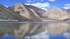 Pangong Lake, Tibet, Ladakh, India Stock Footage