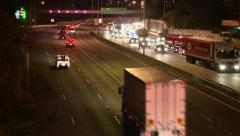 Freeway Accident From Left (Timelapse) Stock Footage