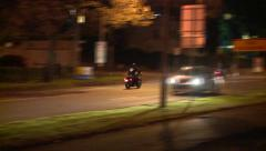 Speeding Bikies Out Law Motor cycle gang Stock Footage