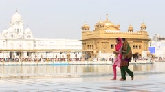 Golden Temple in Amritsar, Punjab, India. - stock footage