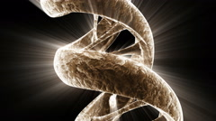 A rotating DNA strand with light effects - DNA 14 HD, 4K Stock Footage