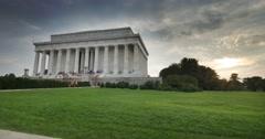 Evening Establishing Shot Lincoln Memorial Stock Footage