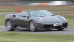 Ferrari 430 on track Stock Footage