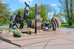 BREST, BELARUS - Monument to the fallen defenders of Brest Fortress Stock Photos