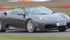 Ferrari 430 on track Stock Footage