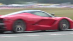 La Ferrari on track - stock footage