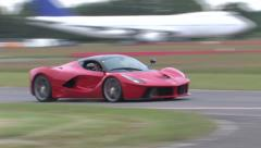 La Ferrari on track Stock Footage