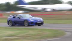 Lexus LFA on track Stock Footage