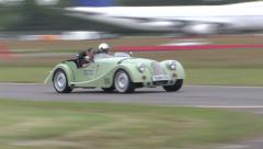 Morgan on track Stock Footage