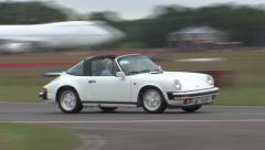 Classic Porsche on track Stock Footage