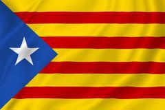 Catalan flag Estelada Stock Illustration