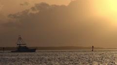 Cruiser at dawn Stock Footage