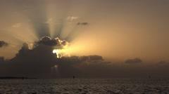 Sunrise in the Florida Keys Stock Footage