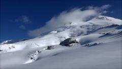 Fantastic beauty of Mount Elbrus. Slow motion. Stock Footage