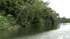 Panama River Cruising - stock footage