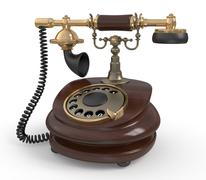 Stock Illustration of 3d retro phone