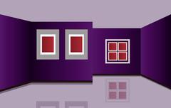 Indoor or inside of a house. Vector included. - stock illustration