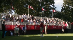 LPGA 2012, Vancouver Golf Club, people cheerring Stock Footage