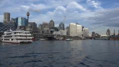 Stock Video Footage of Darling harbour, Sydney cityscape time lapse
