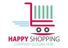 Stock Illustration of Shopping station Logo Design or Online purchase logo, vector file easy to edit.