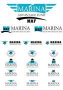 Marina advantage fund energy logo - stock illustration