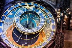 Prague astronomical Clock on  the Old Town Hall - stock photo
