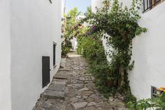 Castellar de la Frontera streets, Andalusia, Spain - stock photo