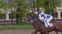 Moscow,Russia, Central Moscow Hippodrome,MAY 2015, running Horse Slow Motion Stock Footage