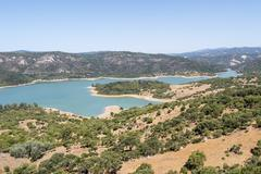 Stock Photo of Guadarranque reservoir, Castellar de la Frontera, Andalusia, Spain
