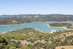 Guadarranque reservoir, Castellar de la Frontera, Andalusia, Spain Stock Photos