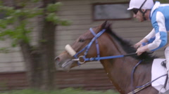 Moscow,Russia, Central Moscow Hippodrome,MAY 2015, running Horse Slow Motion Arkistovideo