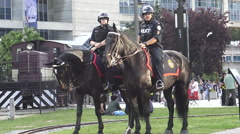 Toronto Police on Horses Stock Footage
