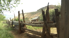Grafton Ghost Town Fence HD Stock Footage