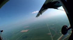 Young Woman Skydives Stock Footage