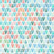 Seamless drawing triangle pattern. - stock illustration