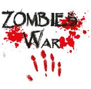 Stock Illustration of The word zombie war for HORROR in a bloody.