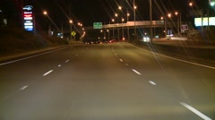 Freeway POV Inbound (Timelapse) Stock Footage