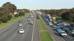 Traffic Jam Aerial Stock Footage