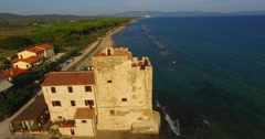 Torre Mozza Aerial View - stock footage