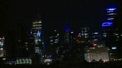 City Night Tracking shot Stock Footage