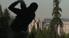 LPGA 2012, Vancouver Golf Club, drive Stock Footage