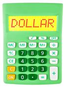 Calculator with DOLLAR on display Stock Photos