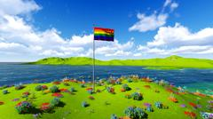 Stock Illustration of Waving flag of Gay Pride