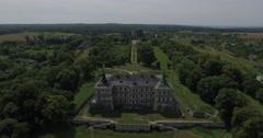 Wonderful Castle-Palace. Aerial Stock Footage