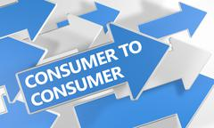 Consumer to Consumer - stock illustration