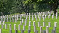 Slow Zooming Establishing Shot Arlington Cemetery - stock footage