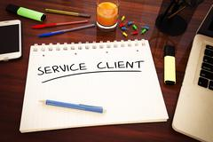 Service Client - stock illustration