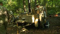 WWII German Field Kitchen jerry can 3 Stock Footage