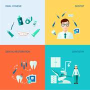 Stock Illustration of Dental Decorative Icon Set