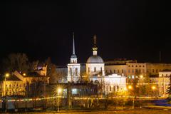 Church of the Resurrection of the Three Confessors night in Tver Stock Photos